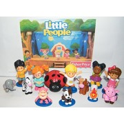 Fisher-Price Little People and Friends Deluxe Party Favor Set of 13 with 5 Little People, Animal Jungle Friends, Animal Farm Friends and Special Squirt Toy!