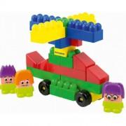 Építőjáték kocka figurás 64 db-os, nagyméretű elemekkel Super block műanyag