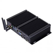 HUNSN Fanless Industrial PC,Mini Computer,Windows 7/10 Pro/Linux Ubuntu,Intel Core I3 7020U,(Black), IM03,[64Bit/Dual Band WiFi/1VGA/1HDMI/3USB2.0/4USB3.0/1LAN/2COM],(16G RAM/240G SSD)