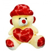 GetMOVin 3 feet STUFFED Spongy red cap Creamy Imported Teddy Bear ( Super Quality ) 91 cm multicolor
