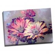 Tablou floral cu margarete stilizate elegant