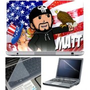 Finearts Laptop Skin - Watt With Screen Guard And Key Protector - Size 15.6 Inch