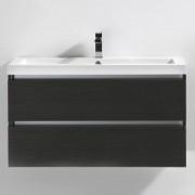 Thalassor Meuble de salle de bain 100 cm CITY Finition gris