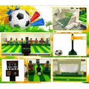 ER Kits De Creación De Modelos 3D De Fútbol De La Ciudad Modelo Educativo Bloques De Juguete Para Niños