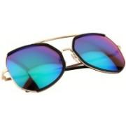 Aislin Over-sized Sunglasses(Green, Blue)