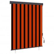 vidaXL Store roulant d'extérieur 140x250 cm Orange et marron