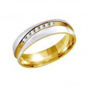 Silvego Snubní ocelový prsten pro ženy MARIAGE - RRC2050-Z