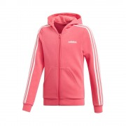 adidas Essentials 3-Stripes Full-Zip Sportjas Meisjes - pink