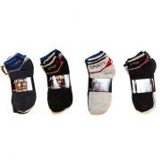 SOFI Ankle Length Multicolor Mens Socks - Pack of 12