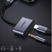 UGREEN USB Type-C to 3.5mm Jack Aux Audio + Type-C Female Charging Port Cable Adapter