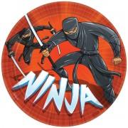 Farfurii party Ninja 23 cm