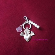 Lovely Heart and Wings Keychain