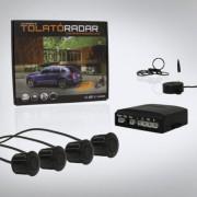 Univerzális Hangszórós tolatóradar 4 szenzorral, fekete