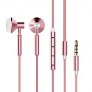JOYROOM JR-E204 CD Grain In-ear Earphone Support Hands-free Calls for Samsung Note 8/S8/S8 Plus - Rose Gold Color