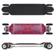 vidaXL Red Drop-down Longboard 103 cm with Big Wheels