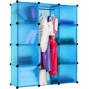 Dulap modular multifunctional transparent-bleu
