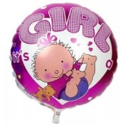 Balon folie rotund It's a girl 45cm