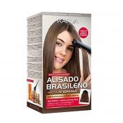 Kativa ALISADO BRASILEÑO Cabellos Oscuros con 4 Productos