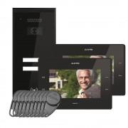 Kit videointerfon Electra Touch Line Smart+ VKM.P2SR.T7S4.ELB04, 2 familii, aparent, 7 inch