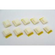 Suport miniatura autoadeziv pentru fixare cabluri (10 buc)