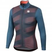Sportful Moire Jersey - XXL - Blue Stellar/Red Fluo