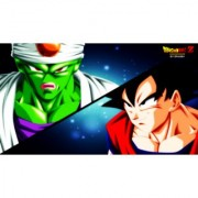 picon vs goku sticker poster|dragon ball z poster|anime poster|size:12x18 inch|multicolor
