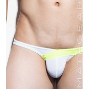 Mategear Nan Song IX Tapered Sides V Front Ultra Pouch Bikini Swimwear White 1260502
