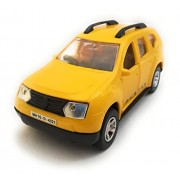 Duster Car Toy for Kids/Show Piece | Die Cast Vehicle Toy | Duster Miniature/Model Car | Pull Back and Go | Openable Doors, Yellow