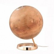 Glob Iluminat Planeta Marte Diametru 30cm Baza Metalica din Cupru National Geographic