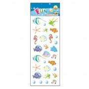 Merkloos School stickers zeedieren tropische vissen