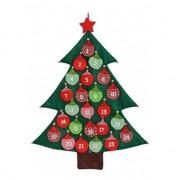 Bellatio Decorations Kerstboom adventskalender vilt kerstversiering 95 cm