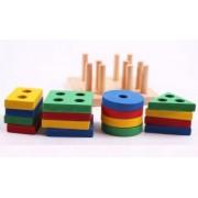 Joc lemn sortator forme geometrice