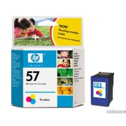 HP 57 Tri-Color Inkjet Print Cartridge, 17ml (C6657AE)