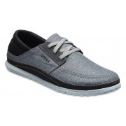 Crocs Santa Cruz Playa Lace-Up Schoenen Herren Slate Grey/Light Grey 41