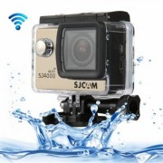 (#33) SJCAM SJ4000 WiFi Full HD 1080P 12MP Diving Bicycle Action Camera 30m Waterproof Car DVR Sports DV with Waterproof Case(Gold) - Caméra sport