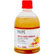 INLIFE Apple Cider Vinegar with Garlic Ginger Lemon Honey Mother of Vinegar Raw Unfiltered Unpasteurized Supple