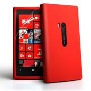 Nokia Lumia 920 Силиконов Калъф Червен + Протектор