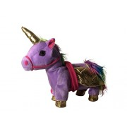Sy Trading Inc My First Pony, Walk Along Toy Stuffed Plush Pony Toy, Realistic Walking Actions with Unicorn Sounds and Music (Purper)