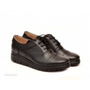 Pantofi dama negri casual-eleganti din piele naturala cod P47N - LICHIDARE STOC 37