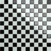 Maxwhite CH4011PM Mozaika skleněná bílá černá šachovnice 30x30cm sklo