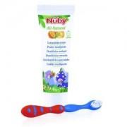 Nuby citroganix pasta y cepillo denticion + 24 m, 45 gr