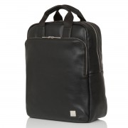 Knomo Dale Leather Backpack Black 15 inch