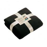James & Nicholson Fleece dekentje in zwarte kleur