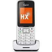 Siemens Gigaset SL450 DECT-handsfree-functie heb, Handset met aluminium lijst Platina/Zwart, extra apparaat voor dect. telefoonbasisstation en VoIP-router