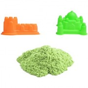 UNTOLD 350GM MAGIC SAND COLORFUL SAND WITH 2 PIECE MOLDS - GREEN COLOR