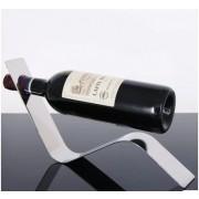 Držák na víno designový nerezový