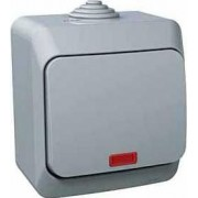 CEDAR PLUS Egypólusu kapcsoló jelzőfénnyel 16 A IP44 Szürke WDE000614 - Schneider Electric