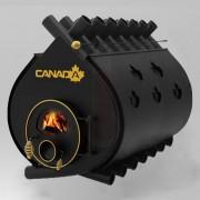 Печка на дърва Canada 05 със стъкло и защита, 240л