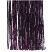 Geen 3x Aubergine paarse folie slierten 50 cm kerstboom versiering