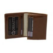 Skórzane etui na wizytówki Orsatti EW01F w kolorze jasny brąz (koniak)